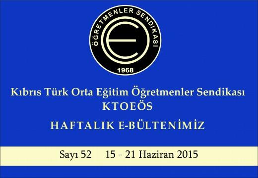 15 – 21 Haziran 2015 Sayı 52