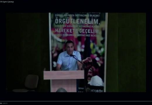 """13 Haziran 2015 KTOEOS Egitim Çalıstayı """"2008 sonrası Öğretmenlerin (Çalışanların) Gasp Edilen Haklarına karşı Etkili Mücadele Yöntemleri"""""""
