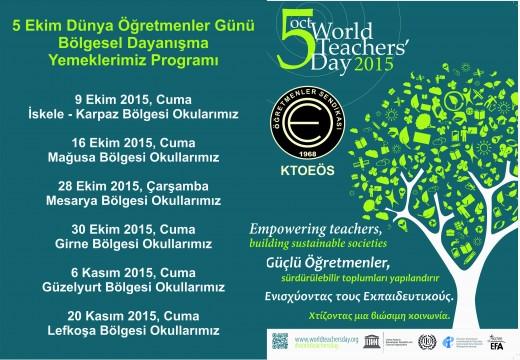 5 Ekim Dünya Öğretmenler Günü Dayanışma Yemekleri Programı