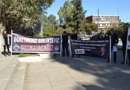24 Kasım Öğretmenler Mücadele Günü KTOEÖS KTÖS Protesto