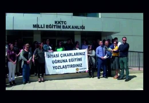 14 Nisan 2016 Kurtuluş Lisesi Öğretmenleri KTOEÖS, Eğitim Bakanlığı Eylemi