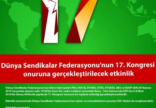 Dünya Sendikalar Federasyonu'nun 17. Kongresi Onuruna Etkinlik