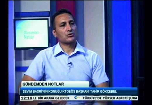 Kıbrıs TV Tartışma Programı Gündemden Notlar KTOEÖS Başkanı Tahir Gökçebel 27.07.2016