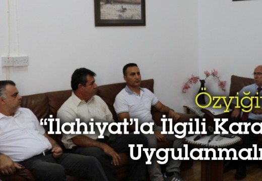 """Toplumlu Demokrat Partisi (TDP) Genel Başkanı ÖZYİĞİT: """"İlahiyatla İlgili Karar Uygulanmalı"""""""