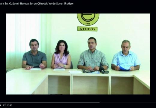 Eğitim Bakanı Sn. Özdemir Berova Sorun Çözecek Yerde Sorun Üretiyor
