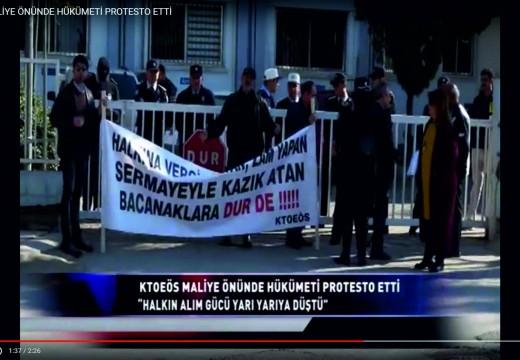 MALİYE ÖNÜNDE HÜKÜMETİ PROTESTO