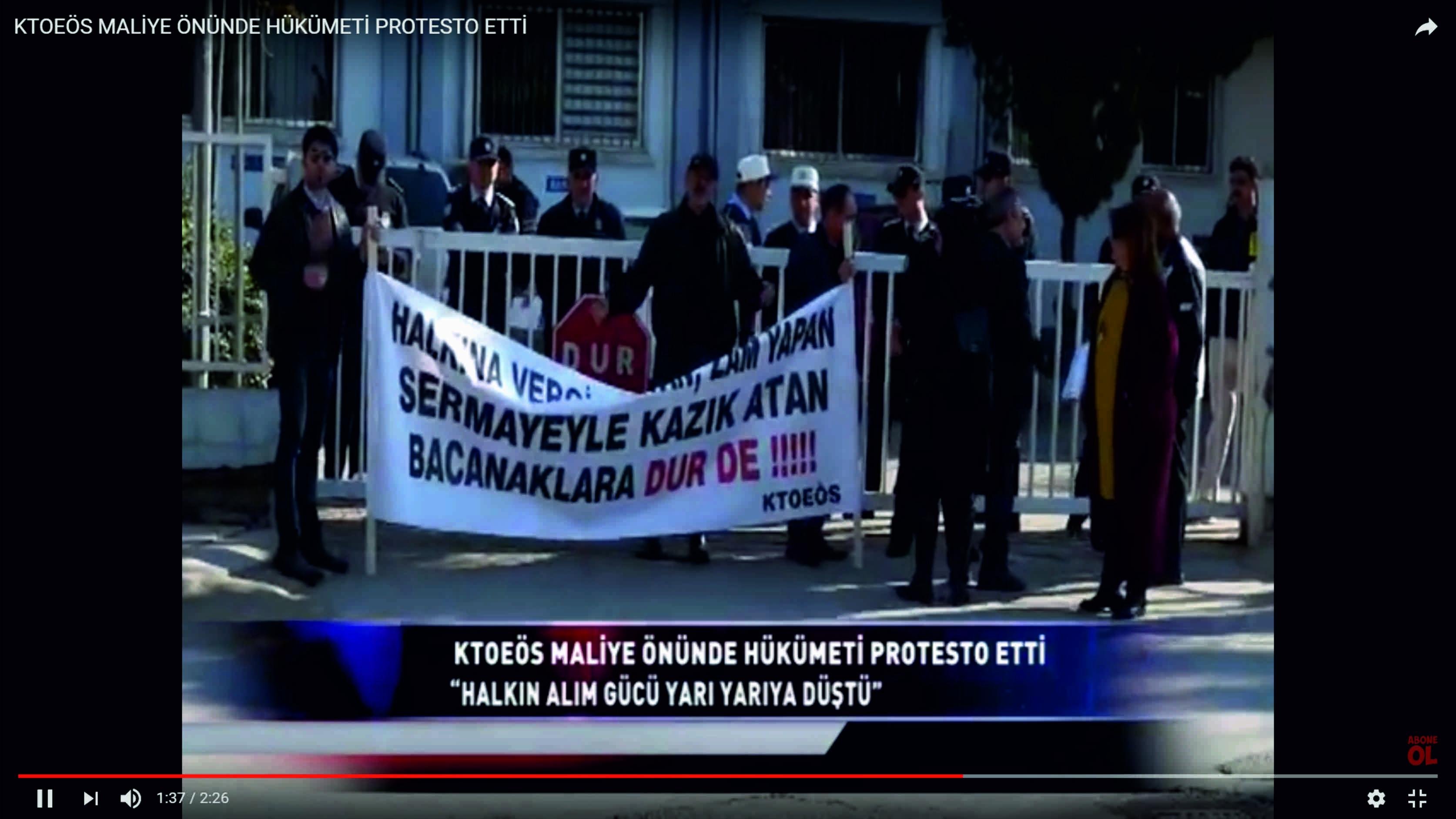 maliye bakanı protesto