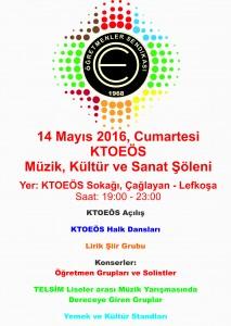 KTOEÖS 14 Mayıs 2016 Eğitim, Kültür ve Sanat Şöleni