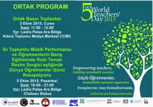 Öğretmenler Günü Poster ve Programı 2015